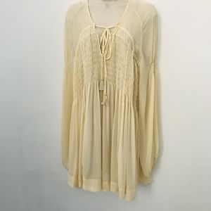 Free People S Long Sleeve 2 Pieces Pleated Tunic